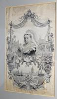 Large Textile Embroidery Commemorative Royal Silk Picture Stevengraph Type 19th Century (2 of 4)