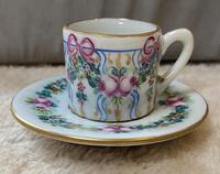 Limoges Hand Painted Miniature Cup and Saucer (6 of 6)