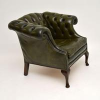 Antique Georgian Style Leather Armchair (8 of 10)