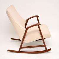 1960's Dutch Vintage Mahogany Rocking Chair (4 of 9)