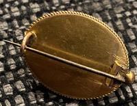Victorian Yellow Metal, Enamel & Seed Pearl Brooch c.1860 (2 of 3)