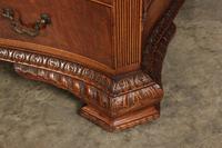 Large Mahogany Serpentine Shaped Partners Desk (15 of 20)