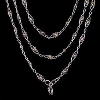 Antique Victorian French Guard Chain Necklace Silver Circa 1900 (4 of 7)
