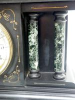 Fine Slate & Marble Mantel Clock 8 Day Striking Mantle Clock (4 of 9)