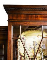 Antique 19th Century Mahogany Breakfront Bookcase (7 of 12)