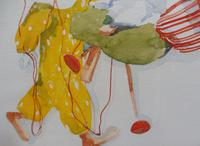 Watercolour The Puppets listed Irish artist Judith Caulfield Walsh (8 of 10)