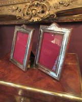 Pair of George V Period Silver Photo Frames (2 of 8)