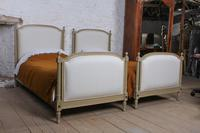 Pretty Pair of Matching French Newly Upholstered Single Beds (3 of 8)