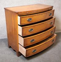 Yew Wood Bow Front Chest of Drawers / Reprodux Bevan Funnel (4 of 10)