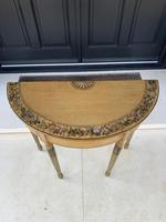 Fine Pair of Georgian Painted Demi-Lune Pier Tables (8 of 10)
