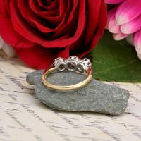 The Victorian 1895 Old Cut Three Diamond Ring (3 of 5)
