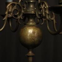 English Pair of Bronze Antique Chandeliers (4 of 10)
