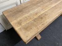 Large French Bleached Oak Farmhouse Dining Table (13 of 19)
