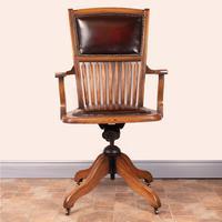 Teak Revolving Office Desk Chair (12 of 17)