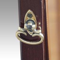 Edwardian Inlaid Mahogany Cheval Mirror (8 of 9)