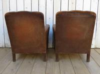 Pair of Antique French Leather Club Chairs (10 of 14)