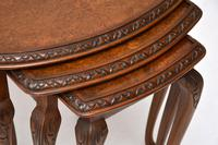 Antique Burr Walnut Nest of Three Tables (5 of 10)