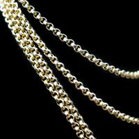Antique Victorian 9ct 9K Gold Belcher Guard Muff Chain Necklace (3 of 9)