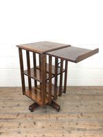 Early 20th Century Oak Revolving Bookcase (5 of 8)