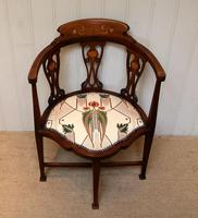 Mahogany Art Nouveau Corner Chair (5 of 10)