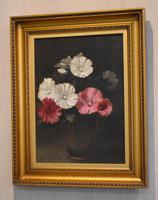 Still Life Oil Painting of Hollyhocks by Alfred Frederick William Hayward (2 of 7)