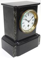 Antique French Slate & Marble Mantel Clock 8 Day Mantle Clock (8 of 9)
