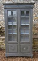 Imposing 19th Century French Glazed & Painted Bookcase Cabinet (8 of 10)