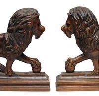 Pair of 19th Century Medici Lions (4 of 4)
