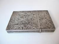 Fine Continental silver filigree card case c 1890 (8 of 12)