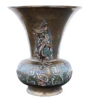 Chinese Bronze Champleve Vase (5 of 7)
