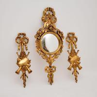 Antique Italian Giltwood Mirror Set (2 of 12)