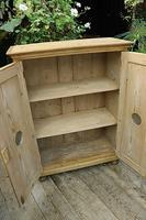Lovely Old Stripped Pine Food Cupboard / Linen / Larder / Storage  - We Deliver! (7 of 9)