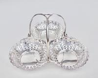 Fabulous Edwardian silver triple sweetmeat dish by Elkington & Co, Birmingham 1906 (8 of 8)
