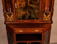 Rosewood Corner Display Cabinet by Gillows (6 of 14)