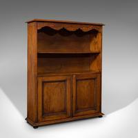 Antique Headmaster's Office Bookcase, English, Oak, Cabinet, Edwardian c.1910