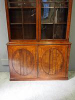 Tall George III Mahogany Cabinet Bookcase (5 of 13)