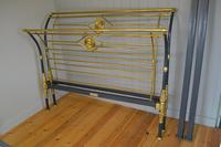 Rare Antique Victorian R.W Winfield 5ft King Size Brass & Iron Sleigh Bed (10 of 21)