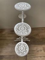 Victorian 19th Century Garden Cast Iron Painted White 6 Branch Plant Stand (42 of 47)