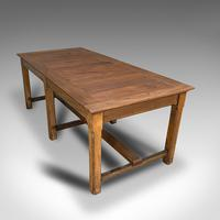Large Antique Refectory Table, English, Teak, Mahogany, Dining, Industrial, 1900 (6 of 12)