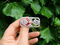 4.53ct Diamond & Platinum Brooch - Art Deco - French c.1930 (2 of 9)