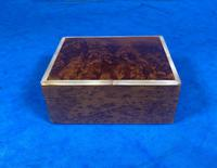 1920s Burr Cedar Box Edged in Mother of Pearl (9 of 9)