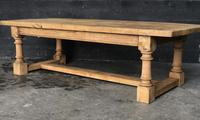 Antique Bleached Oak Coffee Table (9 of 9)