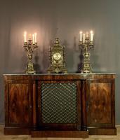 Beautiful Regency Rosewood 3 Door Breakfront Cabinet (11 of 11)