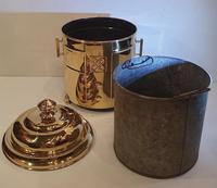 Art Deco Polished Brass Coal Bucket (2 of 5)