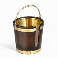 A George III mahogany and brass-bound plate bucket (4 of 6)
