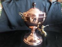 Victorian Samovar / Tea Urn in Copper with Brass Handles professionally polished recently (2 of 6)