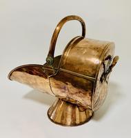 Antique Copper Coal Scuttle and Shovel (11 of 13)