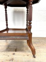 Late Victorian Walnut Octagonal Centre Table (5 of 10)