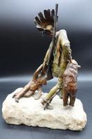Fine Late 19th Century of Native American Bear Hunter by Carl Kauba (3 of 5)