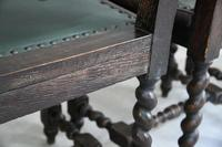 8 Victorian Jacobean Style Oak Dining Chairs (9 of 12)